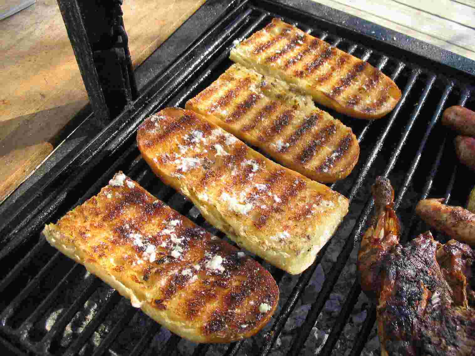 ... on the inside, crispy on the outside. Outstanding BBQ Garlic Bread